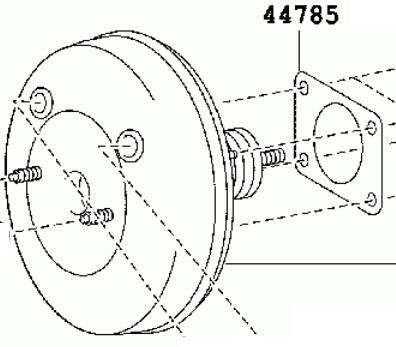 Goods 3503 TOYOTA HILUX Power Brake Booster 44610 0K040