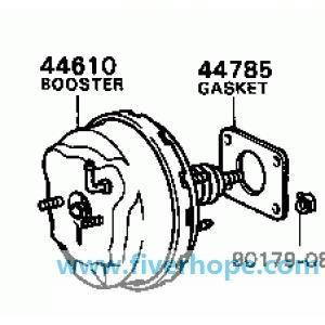 44610-12210 Brake booster for TOYOTA Corolla 2E KE70_Toyota Power