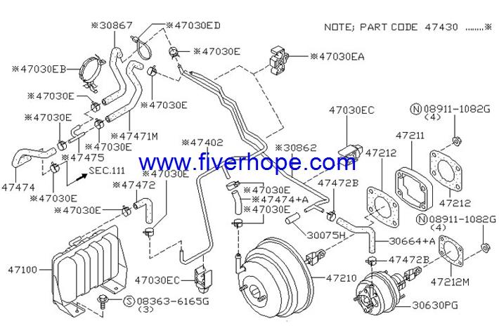 jkc 855 01055 master vac   brake booster   servo freno nissan patrol  y61  jkc master vac peugeot 407 hdi vacuum diagram
