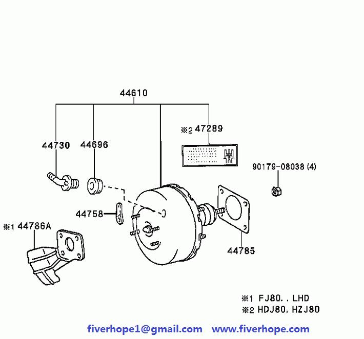 44610-60580 BRAKE BOOSTER TOYOTA LAND CRUISER_Toyota Power brake