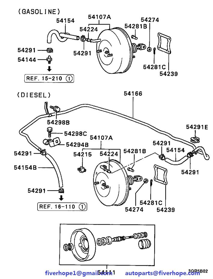 Brake servo MB407783 MB618976 MITSUBISHI L200 01 1986